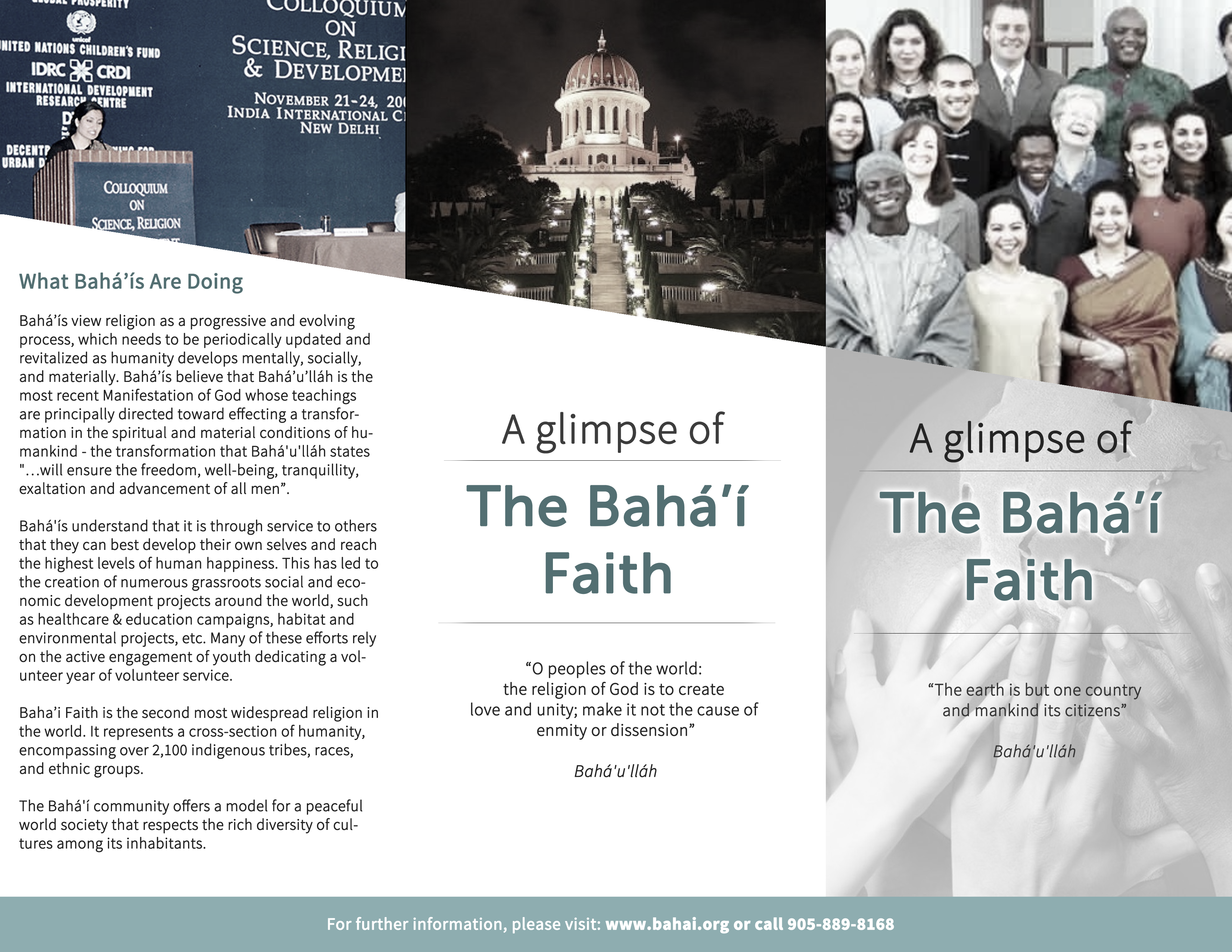 Non-profit: Bahai' Faith Brochure
