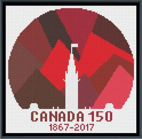 Canada 150: Cross Stitch